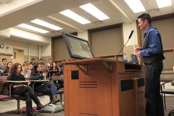 Thomas Beatie speaking at Northwestern