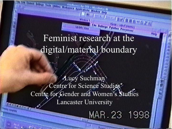 Lucy Suchman, presentation slide 1