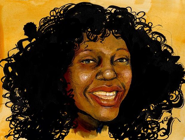 portrait of CeCe McDonald by Molly Crabapple